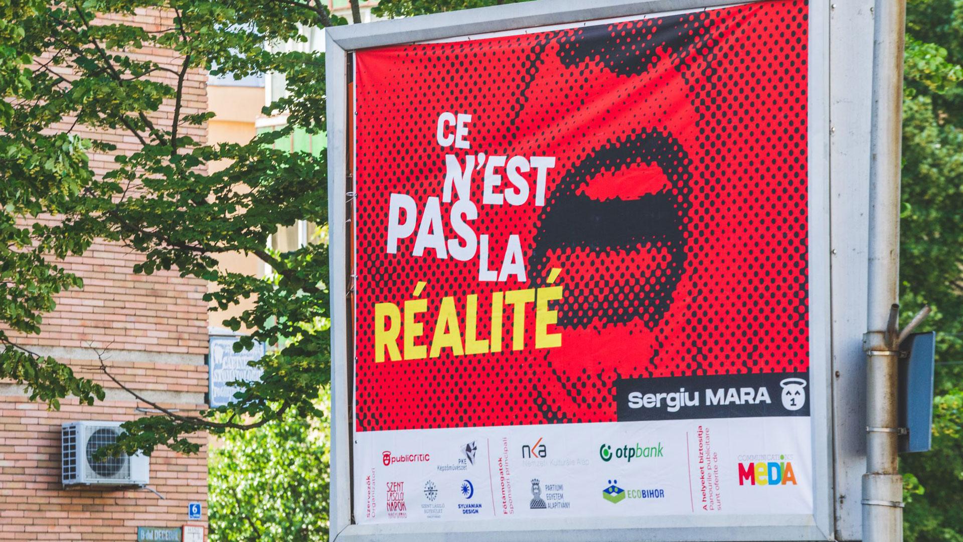 Lucrări de design grafic, expuse pe panouri și citylights în Oradea